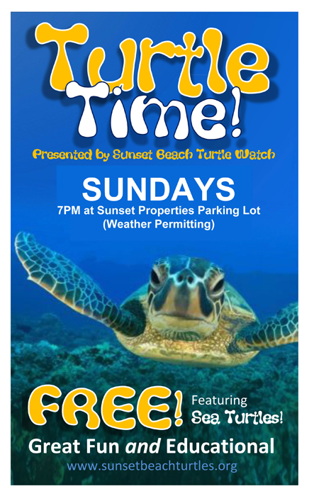 Sunset Beach Turtle Weekly Programs