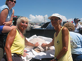 Darlene and Carmel at Turtle Release